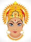 Abstract goddess durga face. Vector illustration stock illustration