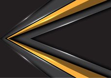 Abstract gold arrow speed direction on gray blank space design modern futuristic background vector. Illustration royalty free illustration