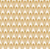 Abstract Gold Art Deco Seamless Background. Geometric Fish Scale Pattern. Classic Art Deco Seamless Pattern. Geometric Stylish Texture. Abstract Retro Vector Stock Images