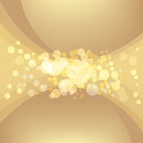 Abstract gold background. Vector template royalty free illustration