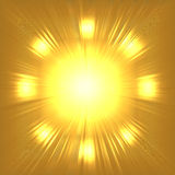 Abstract gold background Stock Images