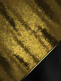 Abstract gold background with black corner. Template for design. copy space for ad brochure or announcement invitation, abstract b. Ackground Stock Illustration
