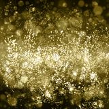 Abstract gold background with bokeh. Yellow and light brown blur vector illustration