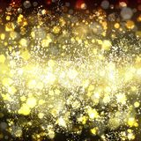 Abstract gold background with bokeh. Yellow and light brown blur. Red background with shine. Vector illustration. Can be use for jewelry themes, fashion or Royalty Free Stock Photo