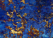 Abstract gold background, color collage with spots Stock Photography
