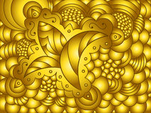 Abstract gold background with floral ornament. Abstract golden background with floral ornament Stock Images