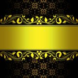 Abstract gold background floral. Abstract gold background with floral ornaments, vector design frame Stock Image