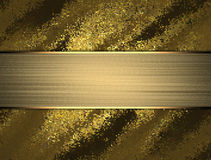 Abstract gold background with gold ribbon. Template for design. copy space for ad brochure or announcement invitation, abstract ba Royalty Free Stock Photos