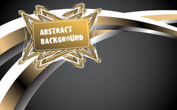 Abstract gold background. Vector Stock Image