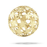 Abstract gold ball Stock Images