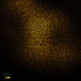 Abstract gold and black dots background. Abstract gold dots on black background Stock Photo