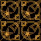 Abstract gold and black seamless pattern Stock Photos