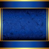 Abstract Gold and Blue Menu Stock Photos