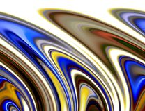 Abstract gold blue orange yellow gray colors and lines background. Lines in motion. Abstract soft colors and lines in motion, waves like shapes in golden, yellow royalty free illustration