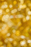 Abstract gold blurred lights Royalty Free Stock Photography