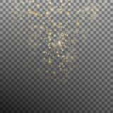 Abstract gold bokeh background. EPS 10 vector Stock Photography