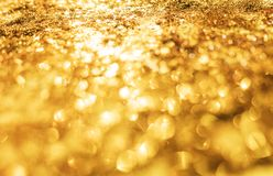 Abstract Gold Bokeh Background, Bokeh light for background. S Royalty Free Stock Photos