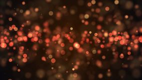 Abstract gold bokeh with black background Stock Image