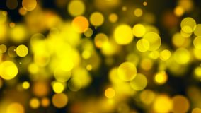 Abstract gold bokeh with black background. 3d rendering Royalty Free Stock Photo