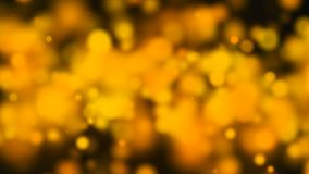 Abstract gold bokeh with black background. 3d rendering Royalty Free Stock Photos