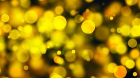 Abstract gold bokeh with black background. 3d rendering Stock Photo