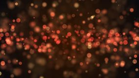 Abstract gold bokeh with black background Royalty Free Stock Images