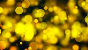 Abstract gold bokeh with black background. 3d rendering Stock Images