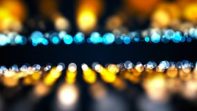 Abstract gold bokeh with black background. Digital Stock Image