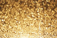 Abstract gold bokeh circles for christmas background.  Royalty Free Stock Photos