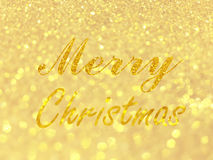 Abstract gold bokeh circles for christmas background, glitter li. Ght defocused and blurred bokeh Stock Photography