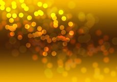 Abstract gold bokeh digital background. Graphic resources design template Stock Image