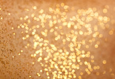 Abstract gold bokeh Royalty Free Stock Image