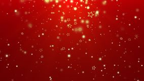 Abstract gold bokeh and snowflake falling. Happy New Year and Merry Christmas shiny background. Luxury and elegant dynamic style template for winter holiday stock footage
