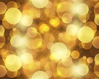 Abstract gold bokeh wallpaper Stock Photos