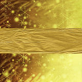 Abstract gold Christmas background. With snowflakes Royalty Free Stock Images