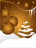 Abstract gold christmas baubles background Stock Image