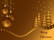 Abstract gold christmas baubles background. With room for text Royalty Free Stock Images