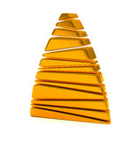 Abstract gold Christmas tree 3d Royalty Free Stock Images
