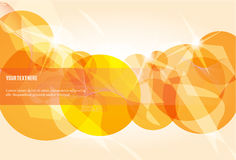 Abstract gold circles Stock Photography