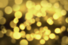 Abstract gold circular bokeh background Stock Photo