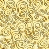 Abstract gold color curves seamless pattern Royalty Free Stock Images