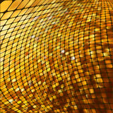 Abstract gold colored mosaic background. EPS 8 Stock Image
