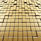 Abstract gold cubes. High quality 3d render Royalty Free Stock Photos