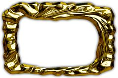 Abstract gold curved frame Royalty Free Stock Photography