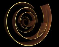 Abstract gold curves Stock Image