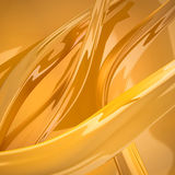 Abstract gold curves Stock Images