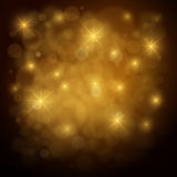 Abstract Gold Defocused Background Royalty Free Stock Images