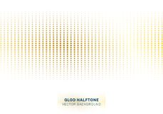 Abstract gold dots pattern halftone on white background luxury style vector illustration