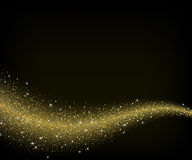 Abstract gold dust glitter star wave background Stock Image