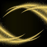 Abstract gold dust glitter star wave background Royalty Free Stock Photo